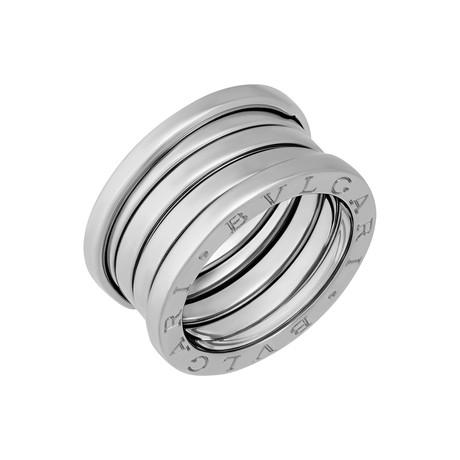 Bulgari 18k White Gold B.Zero1 4 Band Ring // Pre-Owned (Ring Size: 6)