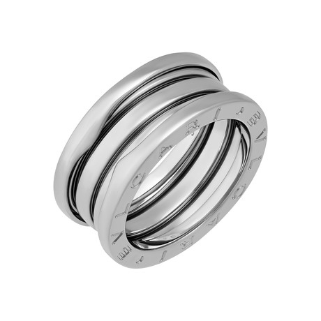 Bulgari 18k White Gold B.Zero 3 Band Ring // Pre-Owned (Ring Size: 5.5)