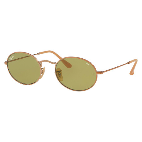Ray-Ban // Unisex Oval Sunglasses // Gold + Green
