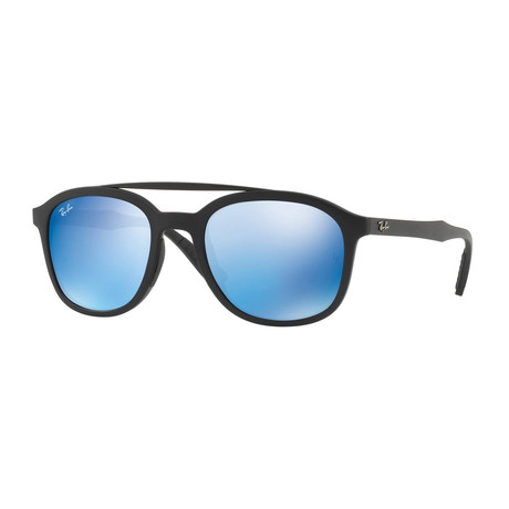 Ray-Ban // Men's Aviator Sunglasses // Black + Blue