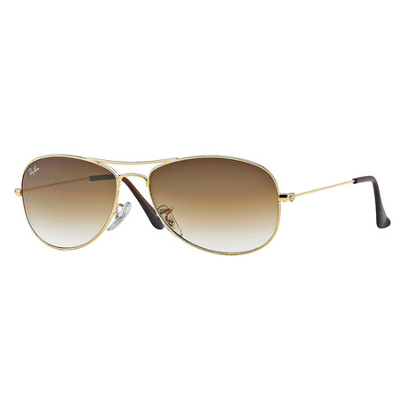 Ray-Ban // Men's Aviator Sunglasses // Gold