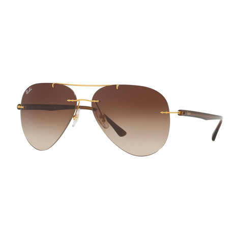 Ray-Ban // Men's Aviator Sunglasses // Brown