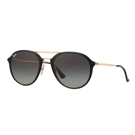 Ray-Ban // Men's Aviator Sunglasses // Black Gold + Gray