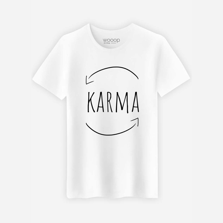 Karma T-Shirt // White (Small) - Wooop -
