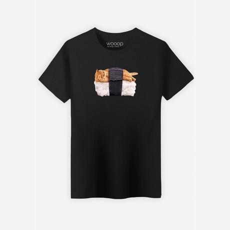 Sushi Cat T-Shirt // Black (S)