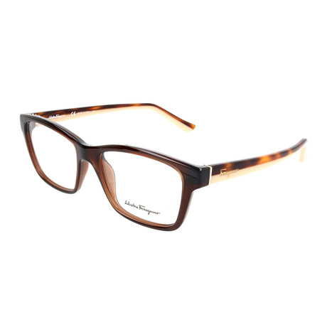 Salvatore Ferragamo // Women's Alisha Optical Frames // Havana + Yellow Wood