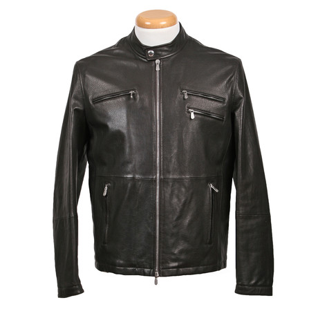 Finlay Leather Jacket // Black (XS)