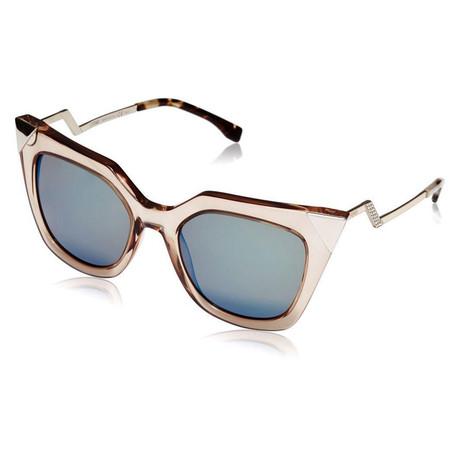 Women's Cat-Eye Sunglasses // Clear + Blue