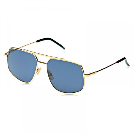 Men's Blue Avio Sunglasses // Rose Gold + Blue