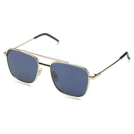 Fendi // Men's Blue Avio Sunglasses // Rose Gold II