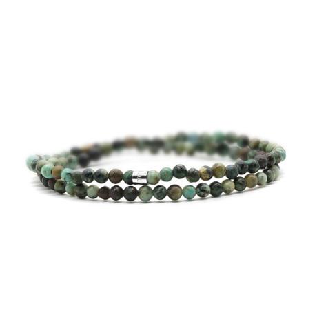 Chameleon Skinny Bracelet // Green