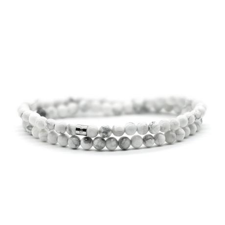 Marbelous Skinny Bracelet // Gray