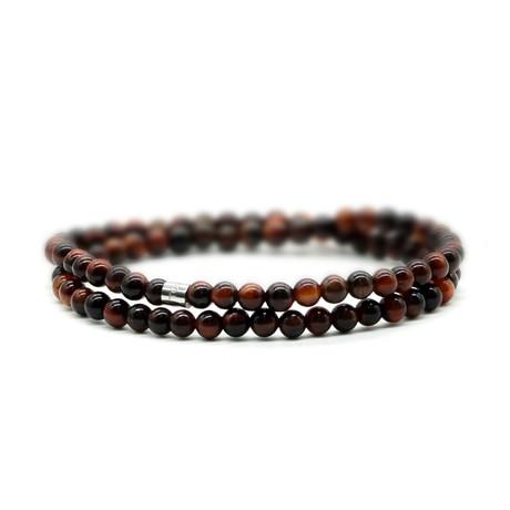 Eye of the Tiger Skinny Bracelet // Brown
