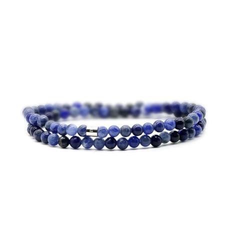 Pacific Skinny Bracelet // Blue