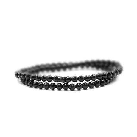 Pitch Dark Skinny Bracelet // Black