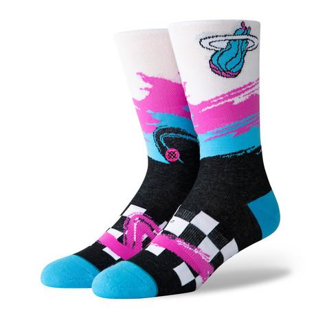 Heat Wave Racer Socks // Black (S)