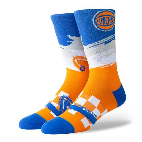 Knicks Wave Racer Socks // Orange (S)