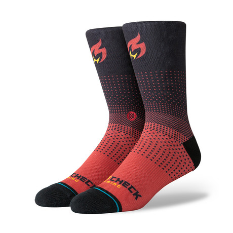 Heat Check Gaming 2K Socks // Burgundy (M)