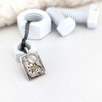 Watch Mechanism Pendant Necklace // Silver + Black