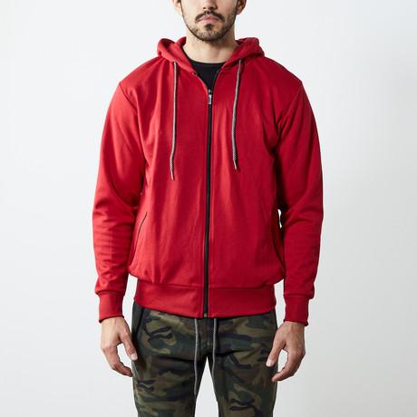 Tech Zipper Hoodie // Red (S)