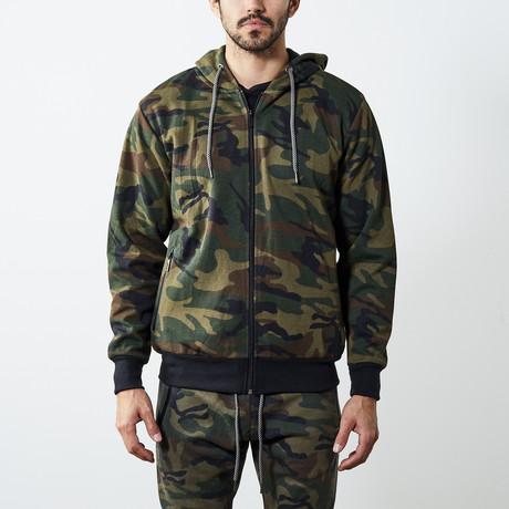 Tech Zipper Hoodie // Camo (S)