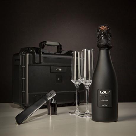 COUP Sabering Gift Case + Crystal Flutes