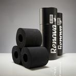 Renova Tissue 3-Pack Gift Tube // Black + Black // Set of 2