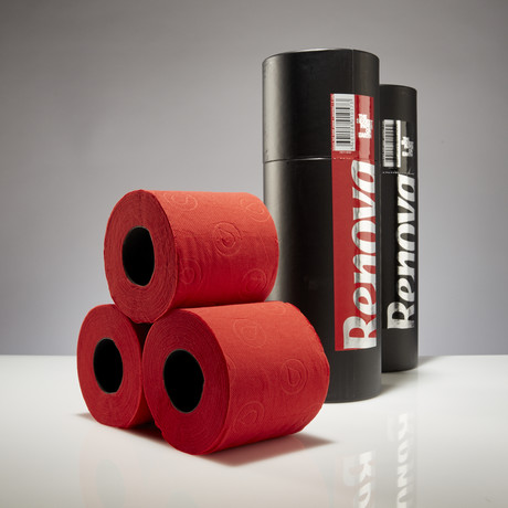 Renova Tissue 3-Pack Gift Tube // Black + Red // Set of 2