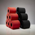 Renova Tissue 6-Pack // Black + Red // Set of 2