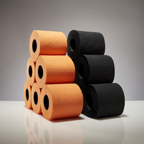 Renova Tissue 6-Pack // Black + Orange // Set of 2