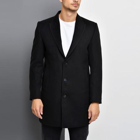Bruges Overcoat // Black (Small)