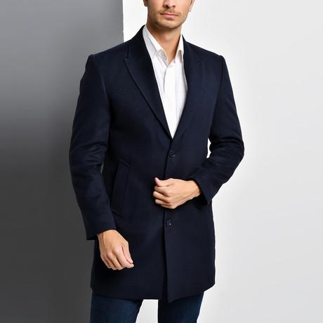 Bruges Overcoat // Dark Blue (Small)