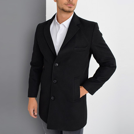 Cannes Overcoat // Black (Small)