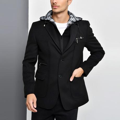 Naples Overcoat // Black (Small)