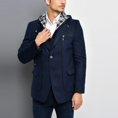 Naples Overcoat // Dark Blue (Small)