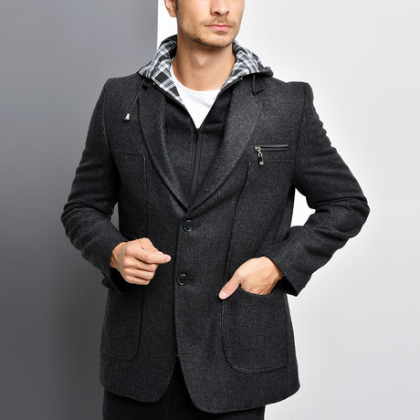 Naples Overcoat // Patterned Anthracite (Small)