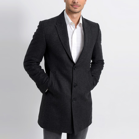 Bruges Overcoat // Patterned Anthracite (Small)