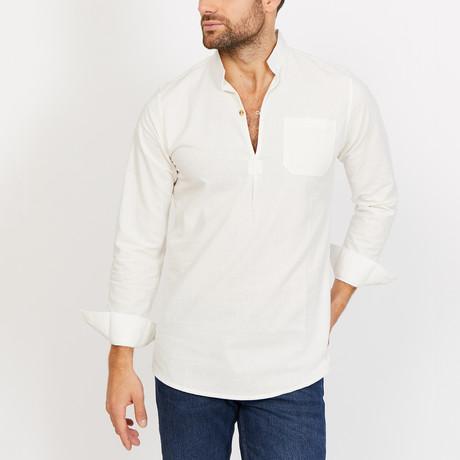 Jones Long Sleeve Button-Up Shirt // Snow White (Small)