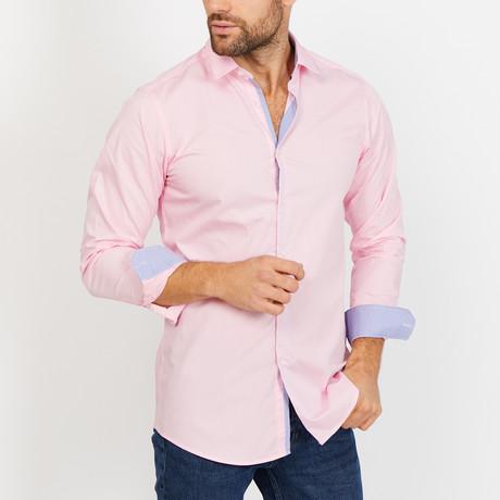 Noe Long Sleeve Button-Up Shirt // Light Pink (Small)