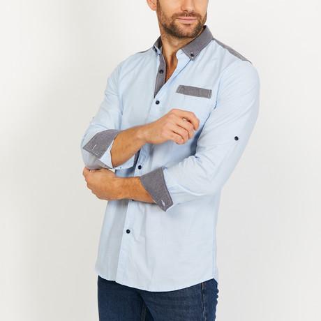 Nicholas Long Sleeve Button-Up Shirt // Sky Blue (Small)