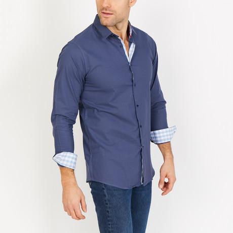 Miller Long Sleeve Button-Up Shirt // Oxford Blue (Small)