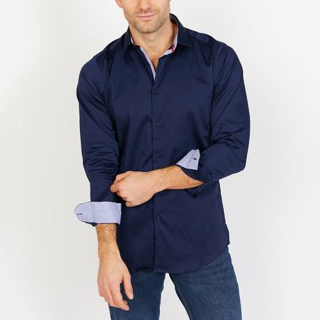 Clement Long Sleeve Button-Up Shirt // Indigo Blue (Small)