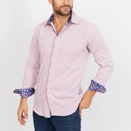Sacha Long Sleeve Button-Up Shirt // Lilac + Purple (Small)