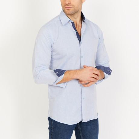 Ethan Long Sleeve Button-Up Shirt // Aqua Blue (Small)