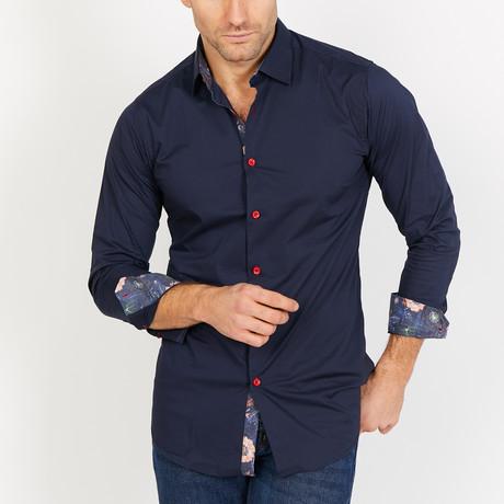 Jayden Long Sleeve Button-Up Shirt // Royal Blue (Small)