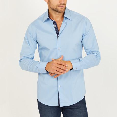 Rick Long Sleeve Button-Up Shirt // Azure Blue (Small)