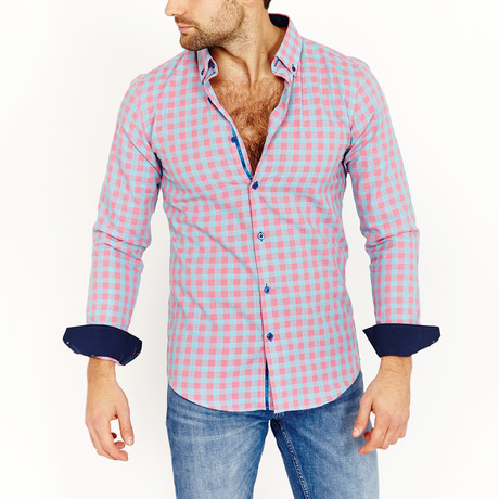 Mark Long Sleeve Button-Up Shirt // Coral (Small)