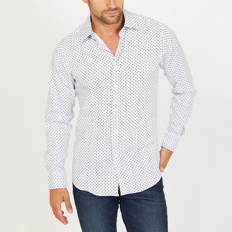 Alexis Long Sleeve Button-Up Shirt // White (Small)