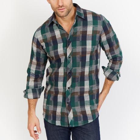Sebastian Long Sleeve Button-Up Shirt // Multicolor (Small)