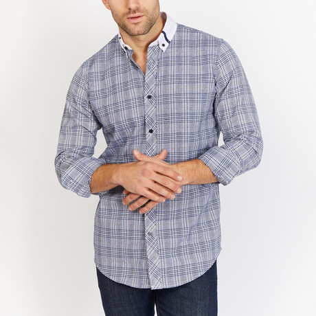 Daniel Long Sleeve Button-Up Shirt // Lead (Small)